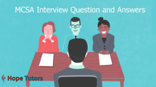 MCSA Interview Questions & Answers